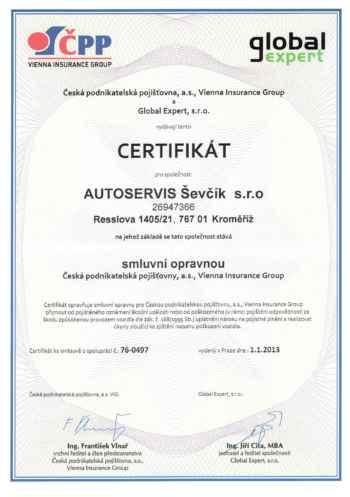 Certifikát CPP